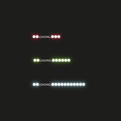 Progress loading bar with lighting. Concept technology. Vector illustration
