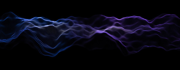 Music abstract background. Equalizer for music, showing sound waves with musical waves, background equalizer. 3d rendering.