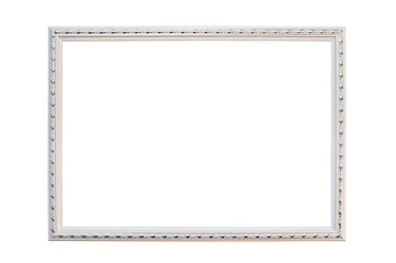 Silver frame for photos, pictures on a white background