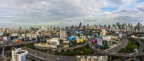 Metropolitan Bangkok City downtown cityscape urban skyline Thailand