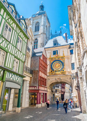 Rouen, rue du Gros-Horloge, Normandie