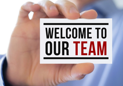 welcome to our team - business concept