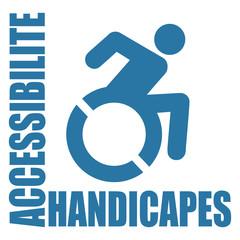Logo accès personnes handicapées.