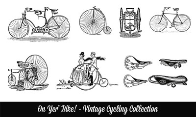 Vintage Penny Farthing Bike Illustration