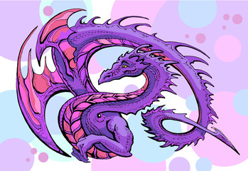 violet winged dragon