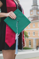 Young Woman Dressed for Graduatino