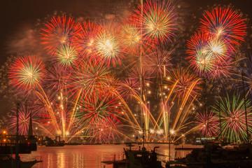 広島 海上花火
