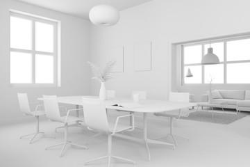 Model of dining room interior design