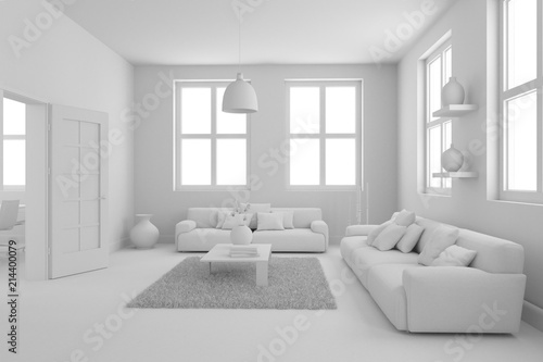 Model Of Modern Interior Design Living Room Stockfotos Und Enchanting A Living Room Design Model