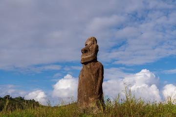 モアイ イースター島 アフ・フリ・ア・ウレンガRapa Nui Isla de Pascua Easter island