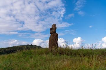 モアイ イースター島 アフ・フリ・ア・ウレンガ Rapa Nui Isla de Pascua Easter island