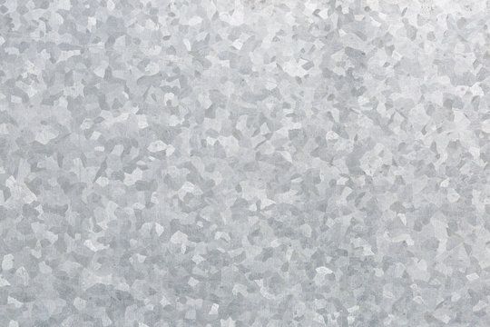 Close up detail of galvanised metal
