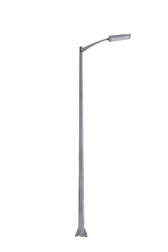Street light pole isolated on a white background.