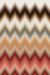 Vegetables concept, rainbow color. Chevron zigzag wave pattern abstract art background, trends