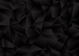 Black background from polygonal shapes. Vector illustration