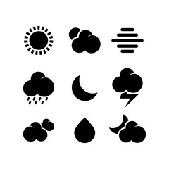 weather icon set vector template. icon sign element