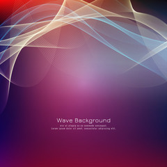 Abstract colorful wave bright background design