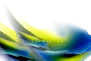 Holographic fluid colors flow, colorful liquid mixing colours motion concept