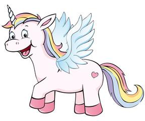 cute winged unicorn