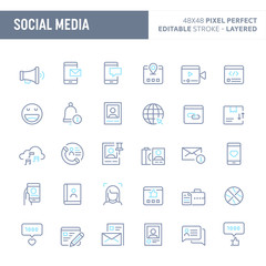Social Media Vector Minimal Icon Set (EPS 10)