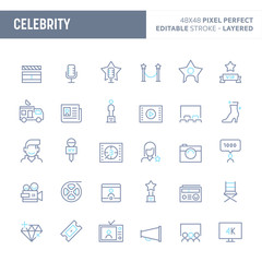 Celebrity Minimal Vector Icon Set (EPS 10)