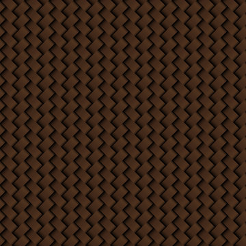 Texture of brown leather weave seamless pattern