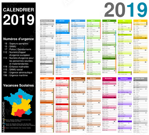 Numero Semaine Calendrier.Calendrier 2019 Sur 14 Mois Modifiable Avec Non Vectorises