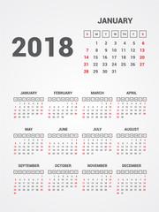 Calendar 2018. EPS 10.