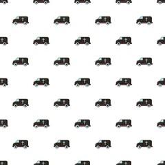 Hearse pattern in cartoon style. Seamless pattern vector illustration