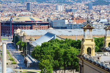 City View of Barcelona ,Spain  from Above