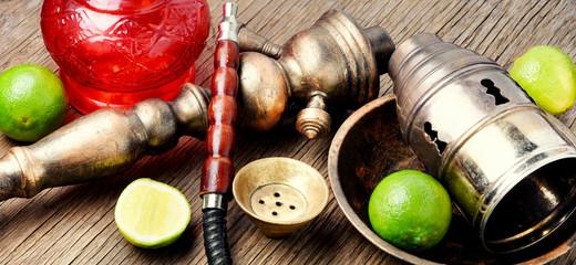 Oriental hookah shisha with lime