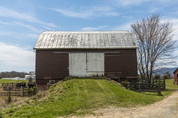 Old barn in a farm