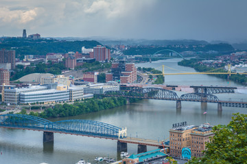 Bridges over the Monongahela River, in Pittsburgh, Pennsylvania