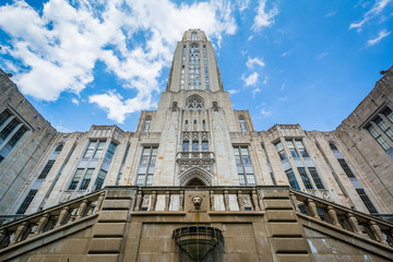 The Cathedral of Learning at the University of Pittsburgh, in Pittsburgh, Pennsylvania