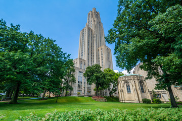 Wall Mural - The Cathedral of Learning at the University of Pittsburgh, in Pittsburgh, Pennsylvania