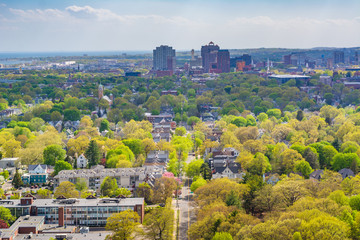 View from East Rock, in New Haven, Connecticut