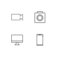 Electrical Devices linear icons set. Simple outline vector icons