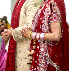 Details of groom's and bride's wear at the punjabi wedding, indian wedding accessories