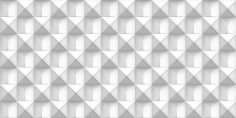Volume white realistic texture, cubes, gray 3d geometric seamless pattern, design vector light background