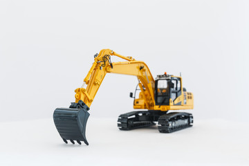 Buckets , Excavator  model on isolated white background