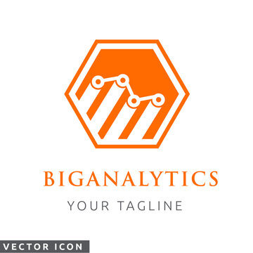 Polygon Analytics Vector Logo/Icon, color on white