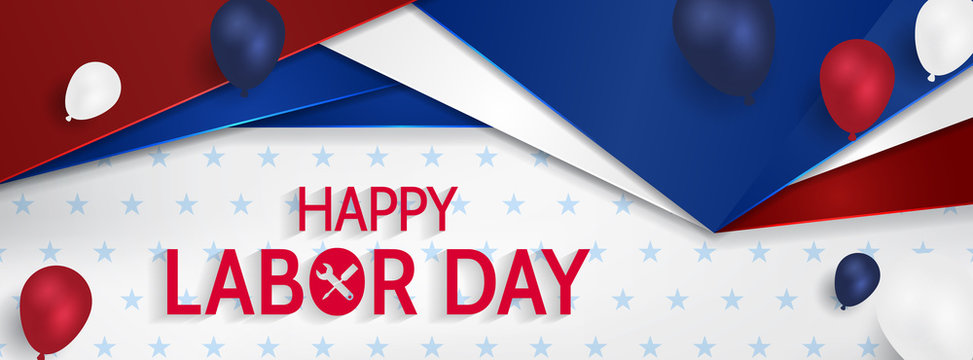 Labor Day Banner Vector.