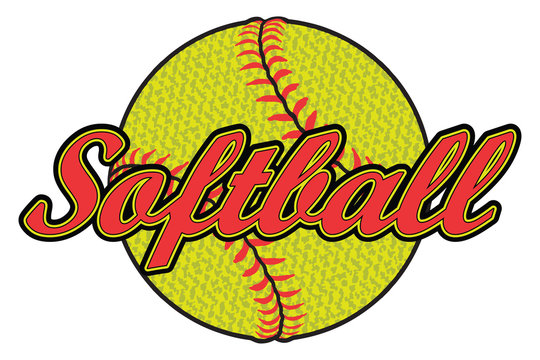 Softball Design with Textured Ball is an illustration of a softball design that can be used by you or your team for t-shirts, flyers, ads, jerseys or any promotional materials.