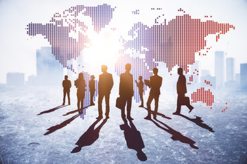 International business and discussion concept