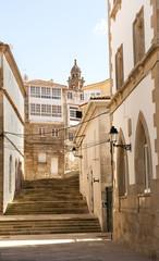 Im alten Ortskern von Muros, Provinz La Coruña, Rias Bajas, Galicien, Spanien