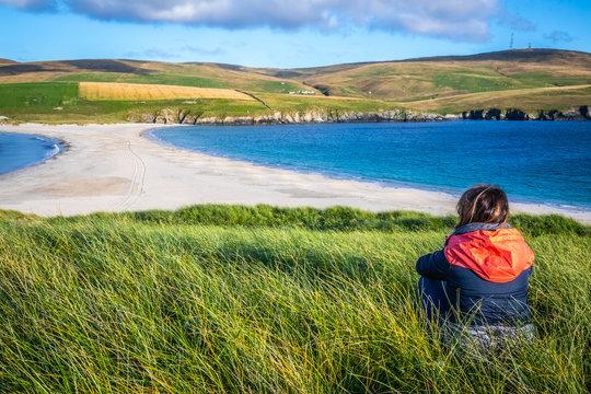 Shetland Islands - tombolo - St. Ninian Beach