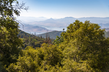 A View From Wofford Heights, California. Scenic View Of Mountains Against Sky.