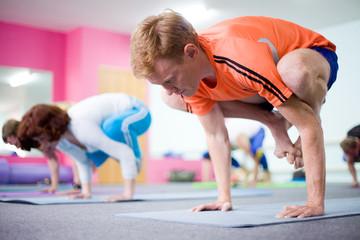 people in Yoga class