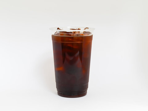 Cold Brew Iced Coffee Drink on a White background.