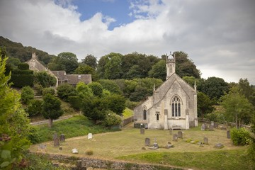 Church at Sheepscombe village, Cotswolds, Gloucestershire, England